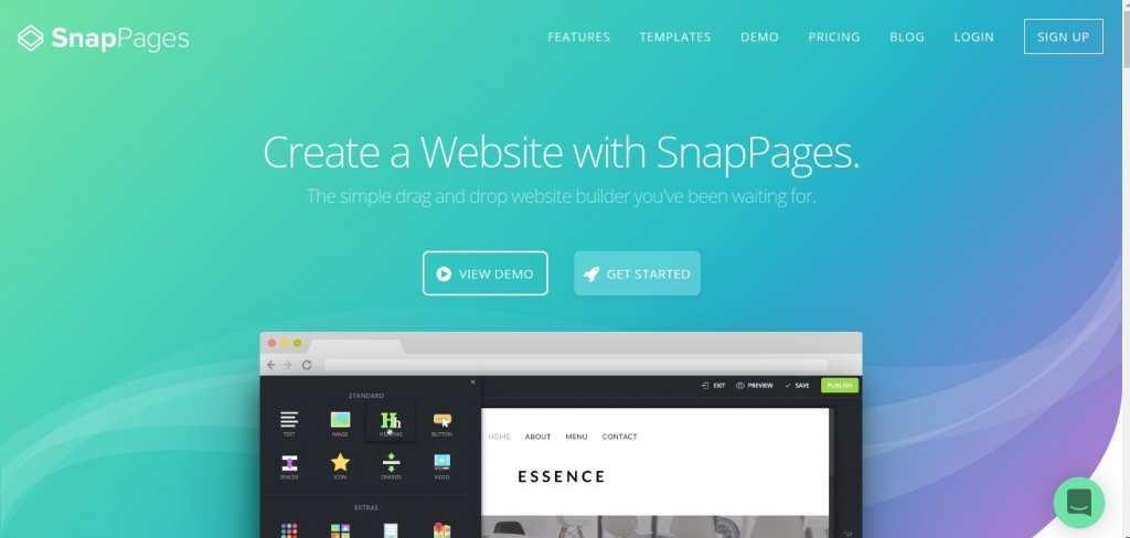 Конструктор сайтов SnapPages